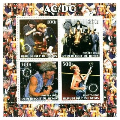 AC/DC On Stamps